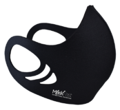 An antimicrobial, breathable, comfortable and washable black color spacer face mask
